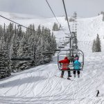 skiers on lift copper mountain