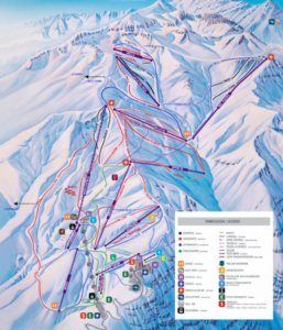 Ski Trail Map Valle Nevado Mountain Resort in Chile