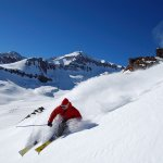 valle nevado Mountain Resort on the slopes of chile
