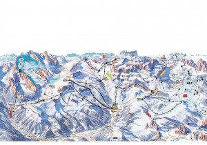 Arabba Marmolda Trail Map Italy