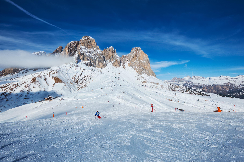 Ski slopes in Arabba Ski Resort Italy