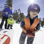 Children playing in the snow at Heavenly California