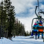Couple on chairlift in Kimberley