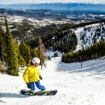 Snowboarder on the slopes in Kimberley