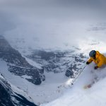 Steep skiing Lake Louise