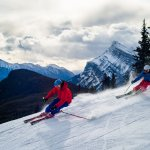 People skiing Mt Norquay