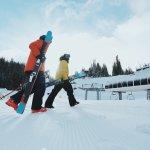 Skiers at Banff Sunshine