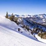 Skiing at Mammoth, California