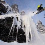 Skier getting air in Revelstoke