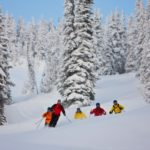 Group of skiers Revelstoke