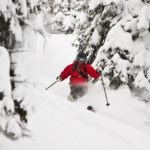 Powder skiing Revelstoke