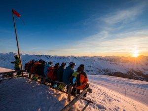Sunset at Meribel Ski Resort