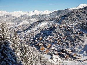 The village at Meribel Ski Resort, France