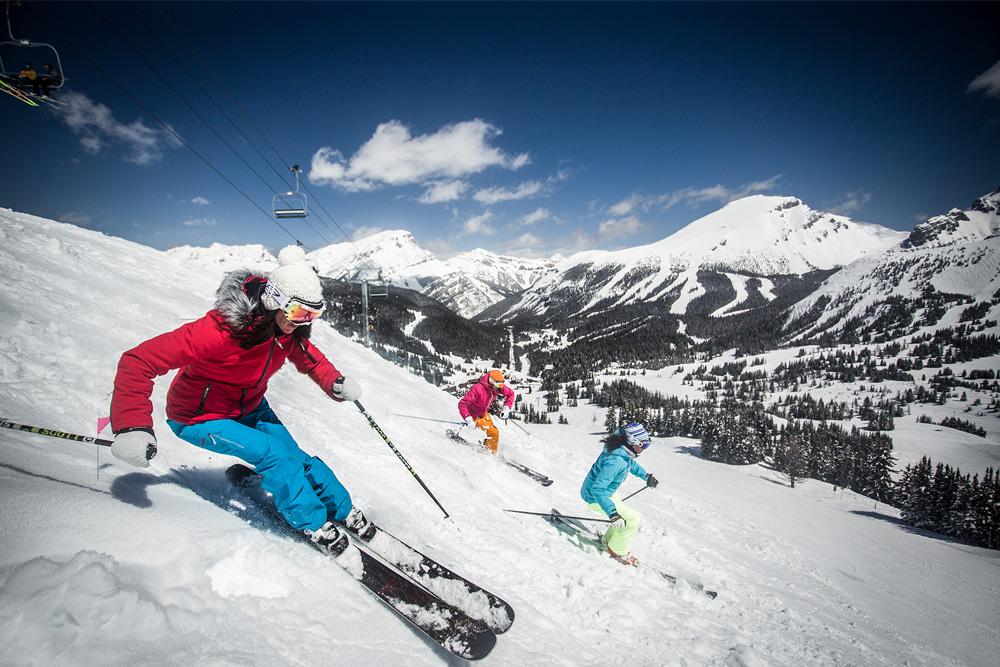 On the slopes of Banff Sunshine Ski Resort