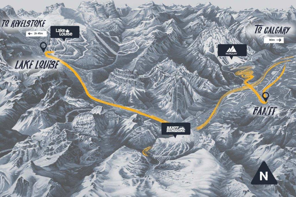 Ski Banff Area Map