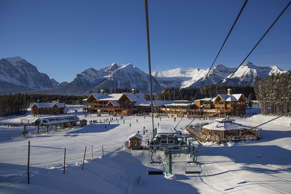 Lake Louise Ski Slope Banff Canada