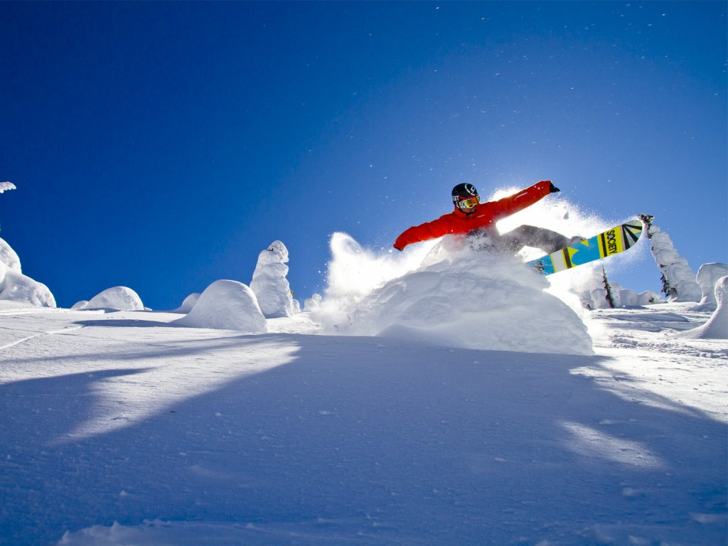 Snowboarder at Big White Ski Resort