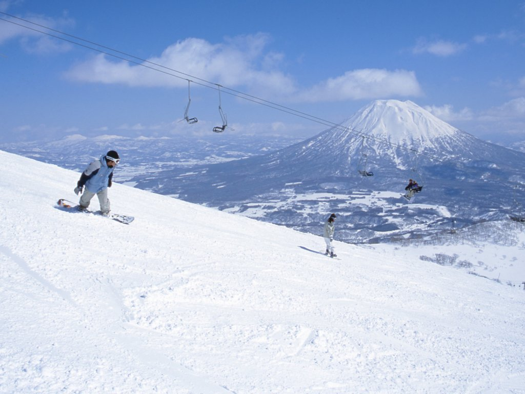 Boarder at Niseko Ski Resort
