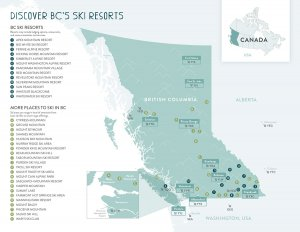 Destination BC Ski Resort Map