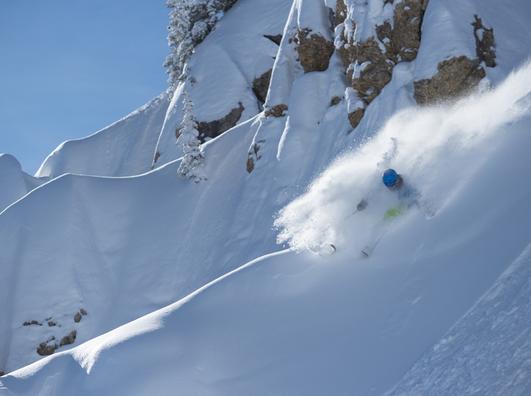 Powder skiing, Utah USA