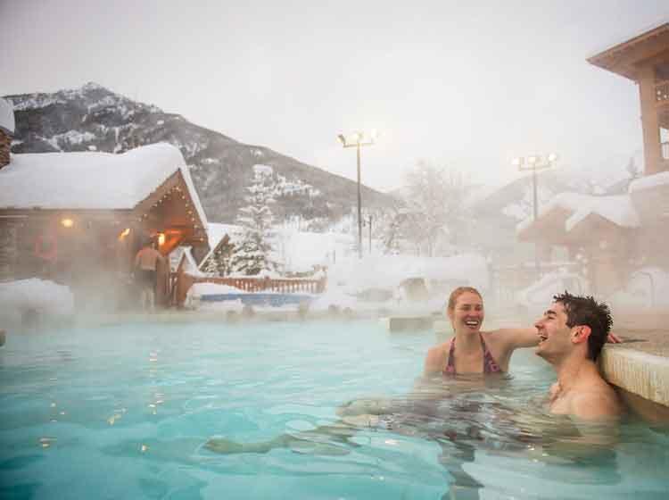 Hot pools at Panorama Ski Resort for holiday