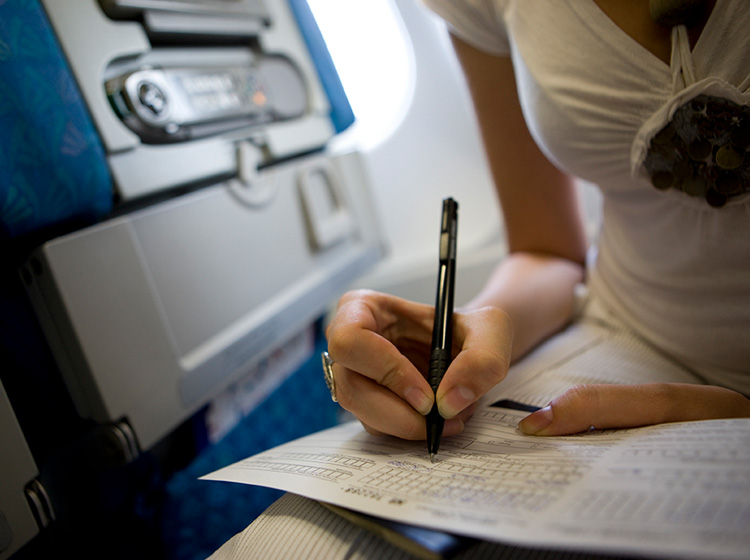 Filling in form on plane