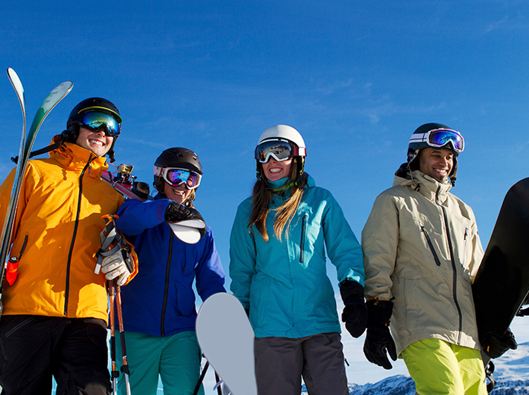 Ski travel tip wear a ski Helmet for safety on ski holiday