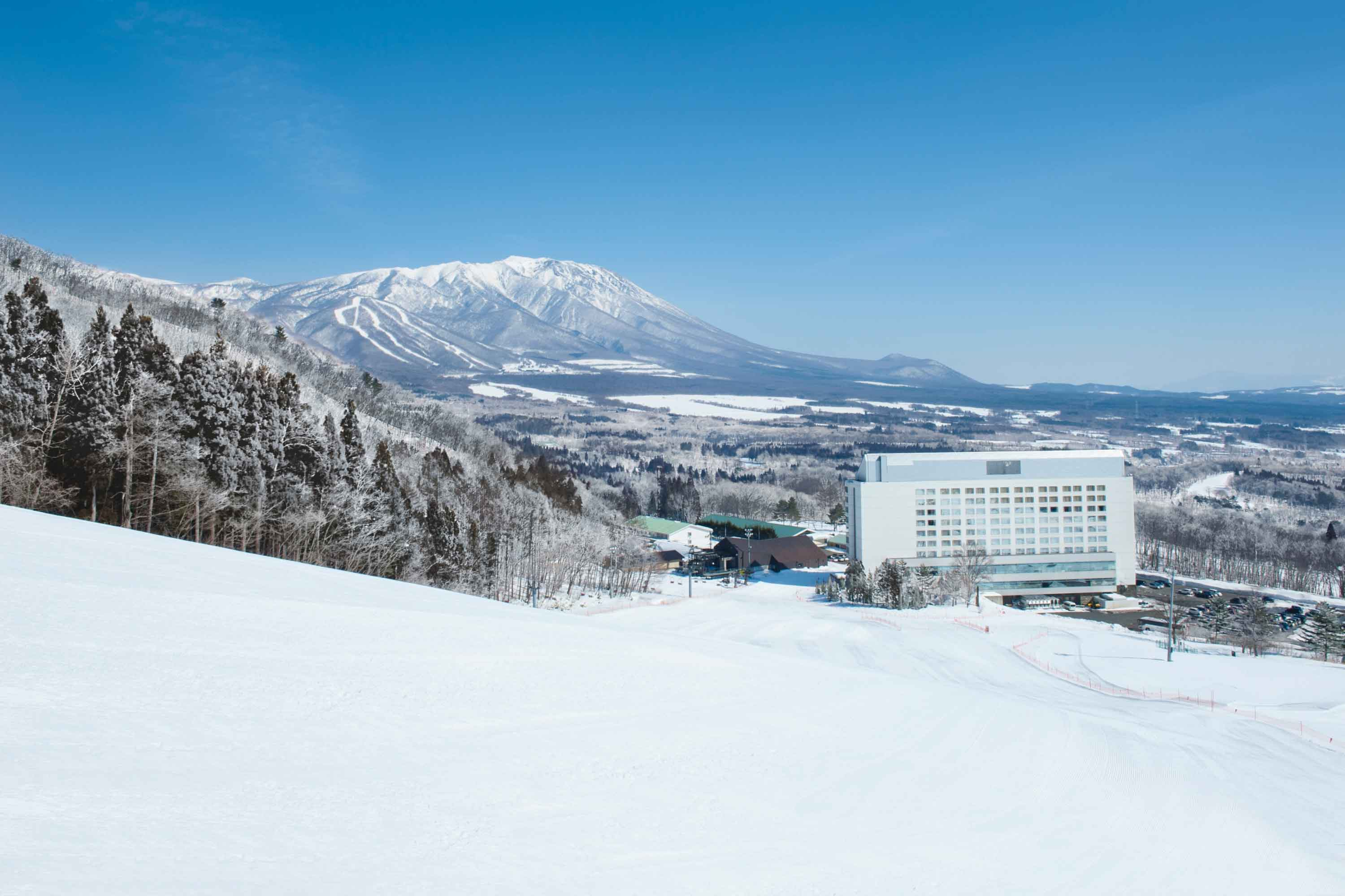 Ski Restort Shizukuishi in Japan