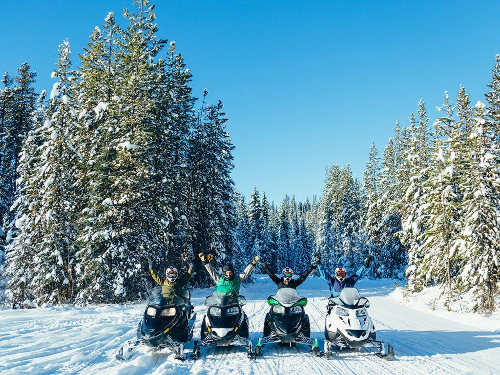 Snowmobiling Big White