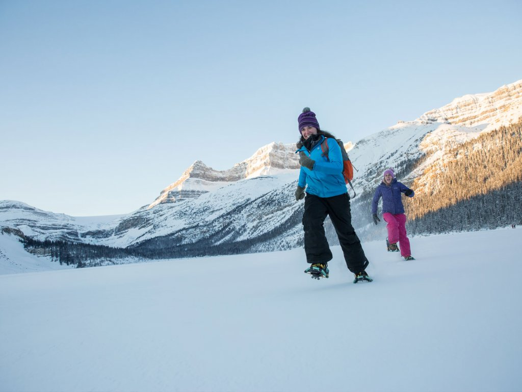 Snowshoeing in Banff